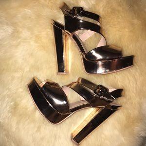 Andrea rose gold heels